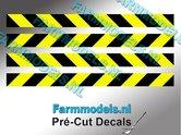 Verdrijvingsbord--Verkeer-stickers-ZWART--GEEL-ong.-5mm-x-60mm---Pré-Cut-Decals-1:32-Farmmodels.nl