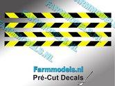 Verdrijvingsbord--Verkeer-stickers-ZWART--GEEL-ong.-3mm-x-60mm---Pré-Cut-Decals-1:32-Farmmodels.nl