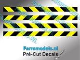 Verdrijvingsbord--Verkeer-stickers-ZWART--GEEL-ong.-4mm-x-60mm---Pré-Cut-Decals-1:32-Farmmodels.nl