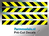 Verdrijvingsbord--Verkeer-stickers-ZWART--GEEL-ong.-6mm-x-60mm---Pré-Cut-Decals-1:32-Farmmodels.nl