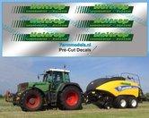 Holtrop-stickerset-6x-Groen-op-folie-6.5-mm-hoog-Pré-Cut-Decals-1:32-Farmmodels.nl