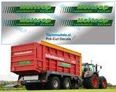 Holtrop-stickerset-4x-Groen-op-folie-8.5-mm-hoog-Pré-Cut-Decals-1:32-Farmmodels.nl
