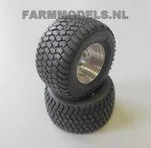 2x-Michelin-Cargo-X-Bib-850-50-R30.5-banden-Ø-52-mm-met-aluminium-velgen-1:32-EXPECTED