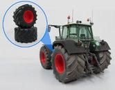 38829-F+B-1050-Michelin-groot-Fendt-(rood-gespoten)-926-Gen-I-+-Aluminium-Velgen-Groot-Ø-2.5-mm-asgat-geschikt-voor-Fendt-824-en-926-Gen.-I-Weise-Toys