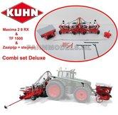 COMBI-SET-DELUXE:-KUHN-Maxima-2-8-RX-8-rijer-zaaimachine-+-TF-1500-Fronttank-+-diverse-1:32--Artikelcode:-UH4127COMBI