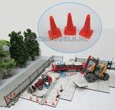 82801-Pion-set-3-stuks-Oranje-afzetting-werkzaamheden-1:32-(04-620)