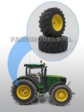 Aluminium-achteras-velgen-John-Deere-6210R-Geel-+-brede-band-geschikt-voor-de-John-Deere-6210R-Wiking
