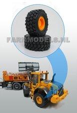 34260+B-Shovel-banden-Ø-46.7-mm-+-Kunststof-velgen-Geel-geschikt-voor-dubbellucht-set-30043-B-1:32