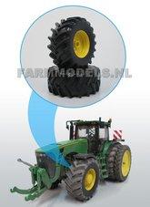 Aluminium-vooras-velgen-Geel-+-Brede-banden-John-Deere-8500-Precision-serie-1:32