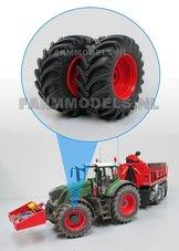 44940-F+B-Aluminium-vooras-velgen-Fendt-Rood-+-brede-voorband-ook-geschikt-voor-de-Fendt-939-facelift-1:32-Expected