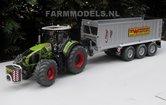415.-Claas-Axion-950-&-Fliegl-afschuifwagen-op-Michelin-Cargo-XBib-Farmmodels-banden-met-aluminium-velgen