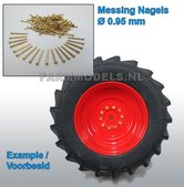 29405-ong.-100-messing-nagels-platte-kop-Ø-0.95mm-te-gerbuiken-voor-(Wiel)-Bouten-=-7.5-gram-1:32