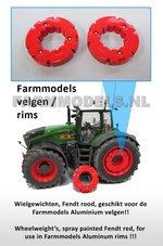 29524-2x-Wielgewicht-Fendt-Rood-voor-Farmmodels-Aluminium-velgen-Fendt-1050-Wiking-Ø-35.2-mm
