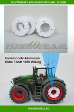 29523-2x-Wielgewicht-blank-voor-Farmmodels-aluminium-velgen-Fendt-1050-Wiking-Ø-35.2-mm--(-=-4-Schijven-+-6-messing-pennen)