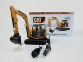 Caterpillar-308E2-CR-SB-Midigraver-+-Machinist-&-diverse-toebehoren-1:32--NOR85239--LAST-ONES