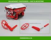 23798-Stappenwiel-met-tandwielkast-en-bevestiging-profiel-met-as-Kuhn-rood-gespoten-1:32