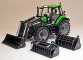 Deutz-Agrotron-6190-C-Shift-met-Donker-grijze-STOLL-Voorlader-1:32--MW1045