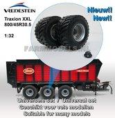 34277-A+B+W-Vredestein-Flotation-Trac-800-45-R30.5-Ø-47.6-x-27-mm-banden-+-velgen-+-wielnaaf-(op-ROS-assen-93-mm-breed)