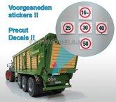 OVE-00068-5x-Voorgesneden-stickers:-16km-25-30-40-&-50-1:32-(G)