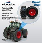 Fendt-926-930-ROOD-Aluminium-achteras-velg-+-Vredestein-Traxion-XXL-800-70R38-brede-banden-1:32