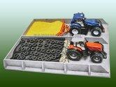 87376**-Sleufsilo-Betonlook!!-L38-x-B46-x-H5-cm-1:32-(hout)-Exclusief-modellen-en-vulling-EXPECTED