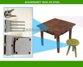 86130-Tafel-en-ronde-stoel-bouwkit-(EL048)