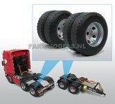 30136+B-4x-dubbelle-montering-Vrachtwagen-banden-Ø-35.5-mm-met-kunststof-velg-1:32