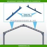 Gording-(verdeel)-steunen-2x-Tussenstuk-t.b.v.-(bewaar-)-loods-stal-bouwkit-1:32