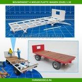 28265-Bouwkit-platte-wagen-2--asser-Oud-incl.-detail-verlichting-geleverd-zonder-banden-1:32