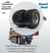 34280+B-Vredestein-Flotation-Trac-+-Vredestein-lichte-opdruk-800-45-R30.5-Ø-47.6-x-27-mm-banden-+-velgen-ZONDER-eind-vertraging-(op-ROS-assen-93-mm-breed)-NIEUW!!