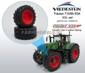 44946-F+B-Aluminium-vooras-velgen-Fendt-939-Facelift-Rood-+-Vredestein-XL-voorband--Ø-53.3-x-24.1-mm-banden-Fendt-939-facelift-Wiking-1:32