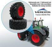 36480-F+B-Vredestein-Traxion-900-60-R42-(achteras)-banden-Ø-68.2-mm-+-Fendt-rood-Diecast-velgen-1:32-Universele-set
