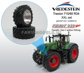 44946+B-Aluminium-vooras-velgen-Fendt-939-Facelift-+-Vredestein-XL-voorband--Ø-53.3-x-24.1-mm-banden-Fendt-939-facelift-Wiking-1:32