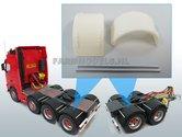 29930-Brede-Half-Ronde-Spatborden-set-t.b.v.-Dubbellucht-(Truck-Trailer)-banden-+-Ø-1.6-mm-aluminium-pijp-Resin-1:32