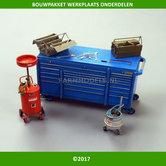 Gereedschap-meubel--olie-spoelbak-vetpomp-pot-&-gereedschapkisten-bouwpakket-(PLM497)-EXPECTED