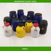 Bouwpakket-Plastic-Vaten-Olie-vergif-vaten-set-perfect-voor-1:32-ref:-PLM466