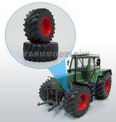 Aluminium-vooras-velgen-Fendt-615-Fendt-Rood-+-brede-vooras-banden-geschikt-voor-Fendt-615-Weise-Toys-1:32