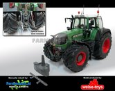 Fendt-930-Vario-Brede-banden-+-spatborden-+-trekhaak-+-Zwaailampen-+-Antennes--1:32-WeiseToys-Manually-rebuilt---EXPECTED