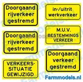 DVG-00002-Doorgaand-Verkeer-MUV-Bestemmings-verkeer-stickers-zwart-op-geel-1:32