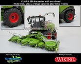 Claas-Jaguar-860-op-Brede-banden-+-1x-Orbis-750-&-koel-roosters-geplaatst-op-hakselaar-1:32-Wiking
