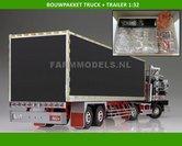 28198--Truck-+-Trailer-+-deuren-Bouwpakket-incl.-14x-rubber-(dubbellucht)-banden-+-velgen-+-eind-doppen-1:32-(41)-(O)