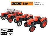 COMBIPACK:-4x-Toys-Farm-Fiat-850-(Super)-DT--4WD-1:32--UH5297-5300-ToysFarm