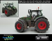 Fendt-724-Nature-Green-Vario-G2--Brede-(M1050)-banden-+-spatborden-+-2-antennes-+-STOFLOOK--1:32-UH-Handmatig-verbouwd-Manually-rebuilt-50136-B-S-A-SL---LAST-ONE