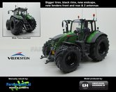 Fendt-724-Nature-Green-Vario-G2--Brede-Vredestein-banden-Black-Rims-+-spatborden-+-2-antennes--1:32-UH-Handmatig-verbouwd-Manually-rebuilt---EXPECTED-END-2019