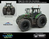 Fendt-724-Nature-Green--Vario-G2--Brede-Vredestein-banden-Black-rims-+-spatborden-+-2-antennes-+-STOFLOOK--1:32-UH-Handmatig-verbouwd-Manually-rebuilt---LAST-ONE