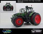 50137-TF6-Fendt-724-Vario-op-6-Rijen-Cultuurwielen-Nature-Green-Achteras-Demontabel-dubbellucht-Rijencultuur-1:32-Handmatig-verbouwd-Manually-rebuilt---EXPECTED-END-2019