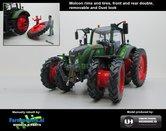 50137-TF8-Fendt-724-Vario-op-8-Rijen-Cultuurwielen-Nature-Green-Rondom-Demontabel-dubbellucht-Rijencultuur-1:32-Handmatig-verbouwd-Manually-rebuilt