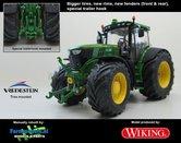 JOH-4580-B-S-T-John-Deere-Wiking-6210R-Farmmodels-editie-Brede-banden-+-nieuwe-velgen-+-bredere-spatborden-Handmatig-verbouwd-Manually-rebuilt-1:32-LAST-ONE