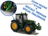 JOH-4251-T-John-Deere-6125R-+-Speciale-Trekhaak-Special-Trailerhook-Wiking-1:32