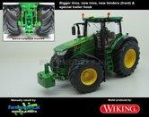 JOH-5082-B-S-T-John-Deere-7310-Farmmodels-editie-Brede-banden-+-nieuwe-velgen-+-nieuwe-spatborden-voor-+-trekhaak-Wiking-2018-Handmatig-verbouwd-Manually-rebuilt-1:32